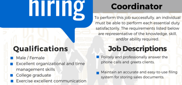 Sales office coordinator
