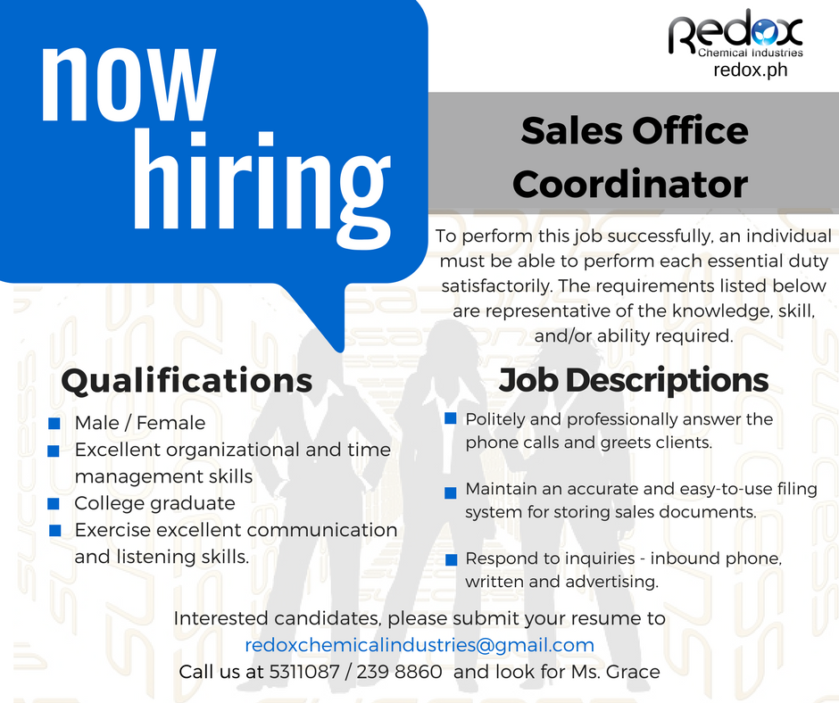 Sales office coordinator