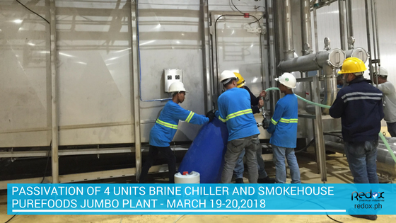 PASSIVATION OF 4 UNITS BRINE CHILLER AND SMOKEHOUSE philippines