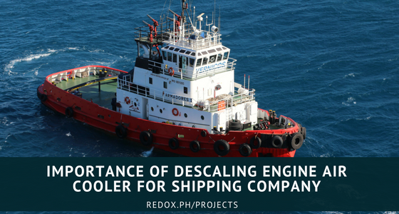 descaling of air cooler for shipping company and power barges philippines