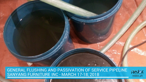 general flushing and passivation of service pipeline philippines