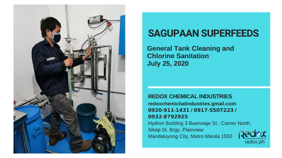 General tank cleaning and chlorine sanitation in the philippines
