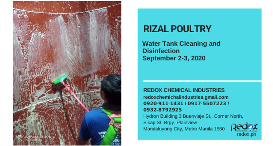 water tank cleaning and disinfection in the Philippines