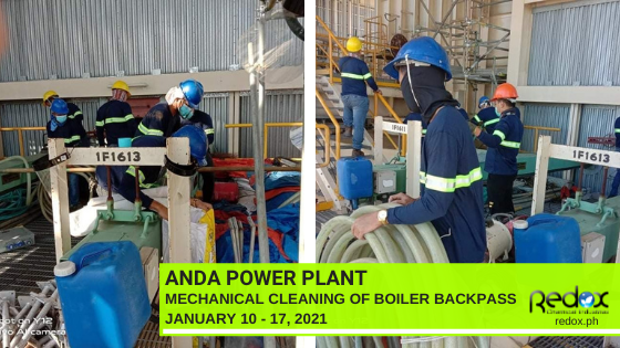 Industrial cleaning services in the philippines mechanical cleaning of boiler backpass powerplants
