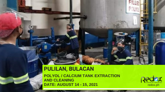 Calcium Tank Extraction and Cleaning industrial cleaning services in the philippines